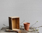 Vintage Rustic Garden Collection :  French Pot, Tool and Wood Box