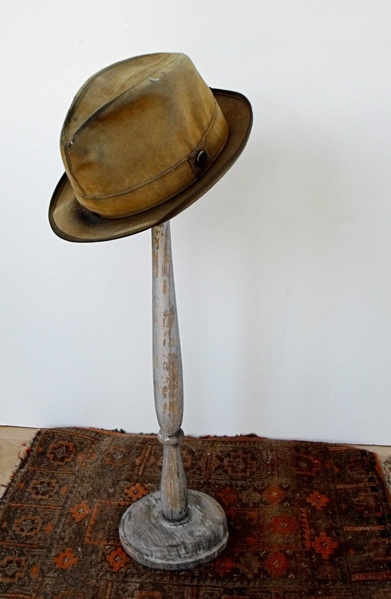 Vintage Tall Wood Hat Stand