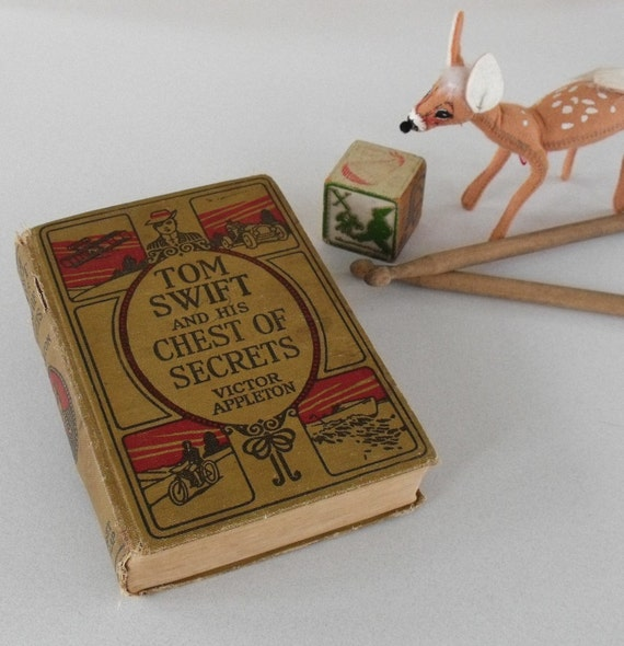 Antique Book Tom Swift with a Secret Love Letter