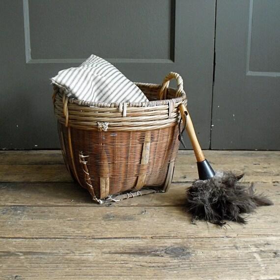 Vintage Handwoven Basket