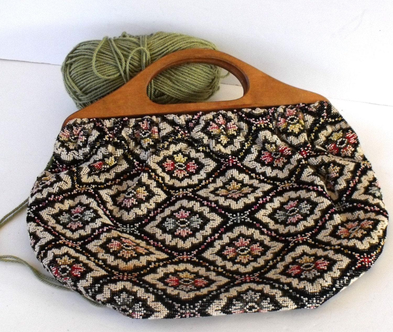 Vintage Knitting Bag : Vintage tapestry knitting bag sale