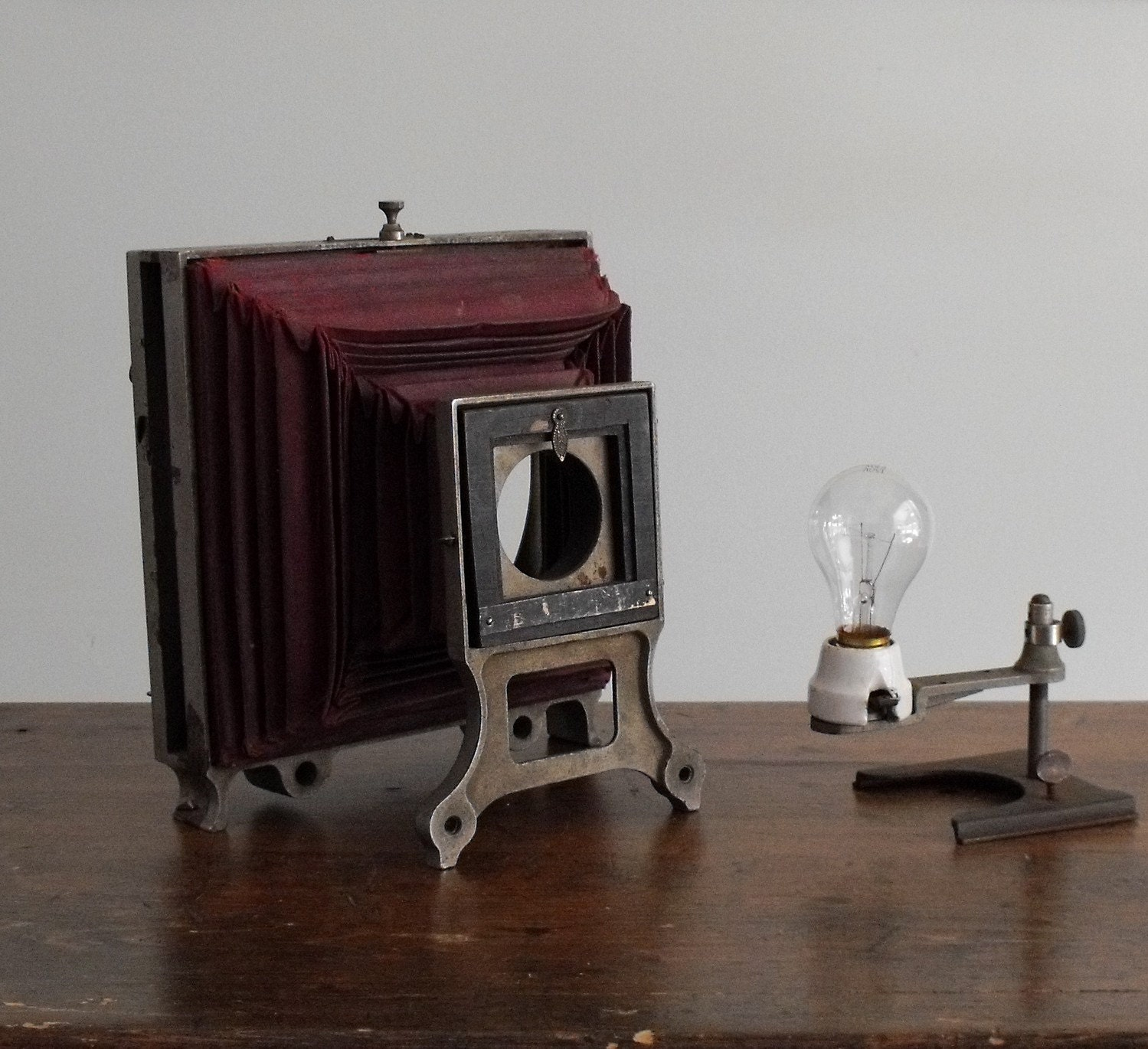 rare antique magic lantern projector frame. Black Bedroom Furniture Sets. Home Design Ideas