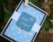blue LITTLE ANGEL card