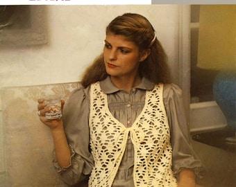 Vintage Ladies Waistcoat, Crochet Pattern, 1960 (PDF) Pattern, Lister 1117