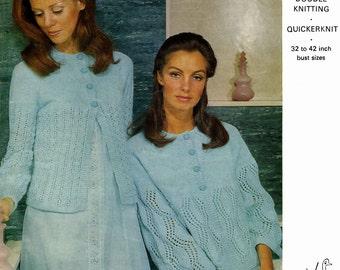 Vintage Ladies Bed Jackets, Knitting Pattern, 1960 (PDF) Pattern, Emu 2665