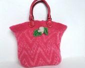 Pink Felt Tote Bag by Scarlett Dalila