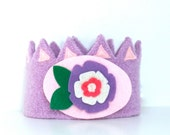 Felt Crown Pansy Princess with removable decoration