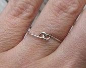Pinky Promise Sterling Silver Ring Simple Wire Infinity Ring