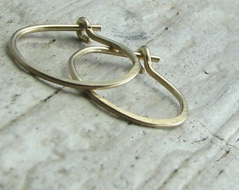 Gold filled hoops, small second hole earrings, cartilage piercing 1/2 inch