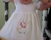 Hand Embroidered Kewpie Doll Apron Dress