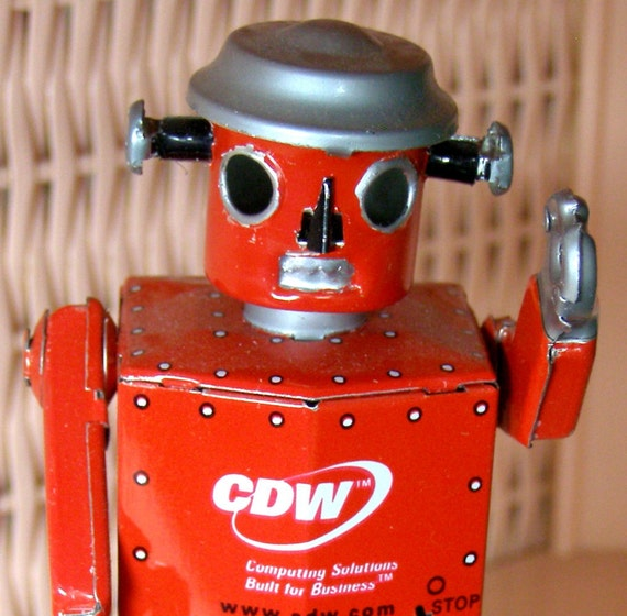 Schylling Tin Wind-Up Walking Robot-Advertising CDW