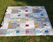 quilt and duvet pattern - Bright Lights, Big City by Daisy Janie