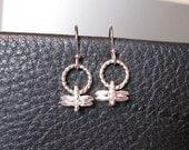 Dragonfly Earrings - Sterling Silver Earrings