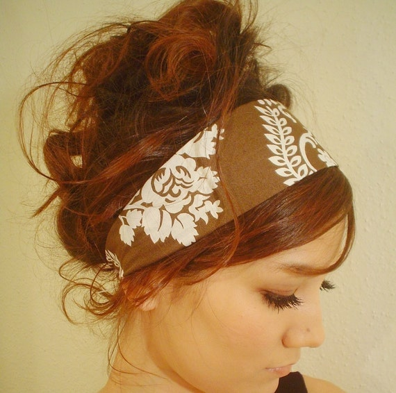 BROWN WHITE TEA Party Chocolate off white formal cocktail Mixbaby dress Headband spring summer