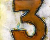 Number 3- original encaustic painting