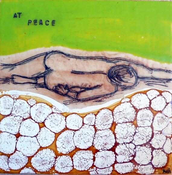 At Peace- original encaustic painting