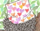 Love Nest ACEO Print
