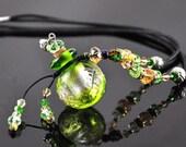 Aromatherapy Jewelry Aroma Bottle Necklace Murano Glass  Gift
