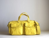 The Barrel Bag in Yellow w/ studs LAST ONE
