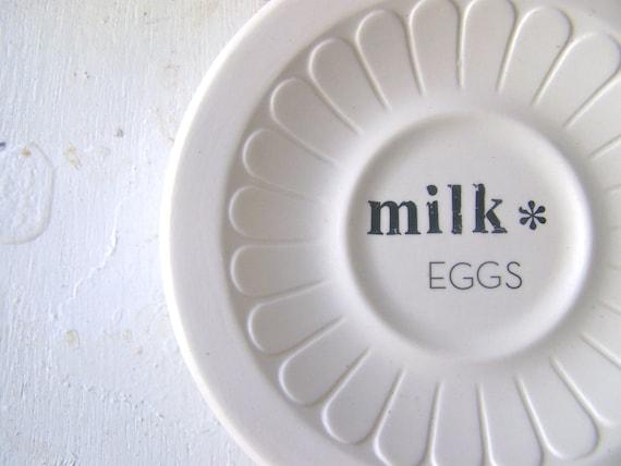 Modern Farmhouse Kitchen, Sign, White, Shabby Chic, MILK & EGGS, Wall Decor, Hanging Plate