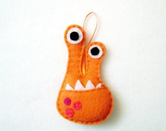 Monster Ornament, Alien Ornament, Christmas Ornament, Dr. Phloo the Eyestalk Monster - Made to Order, Felt Animals