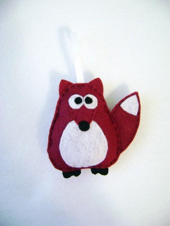 Christmas Ornament Felt - Rupert the Brick Red Fox