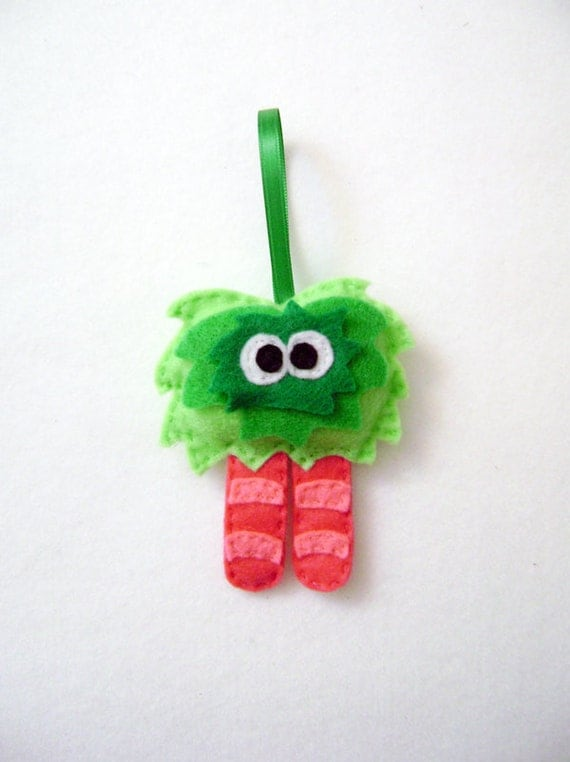 Monster Ornament, Christmas Ornament, Ornament, Mumsy the Mumsy Monster, Felt Monster