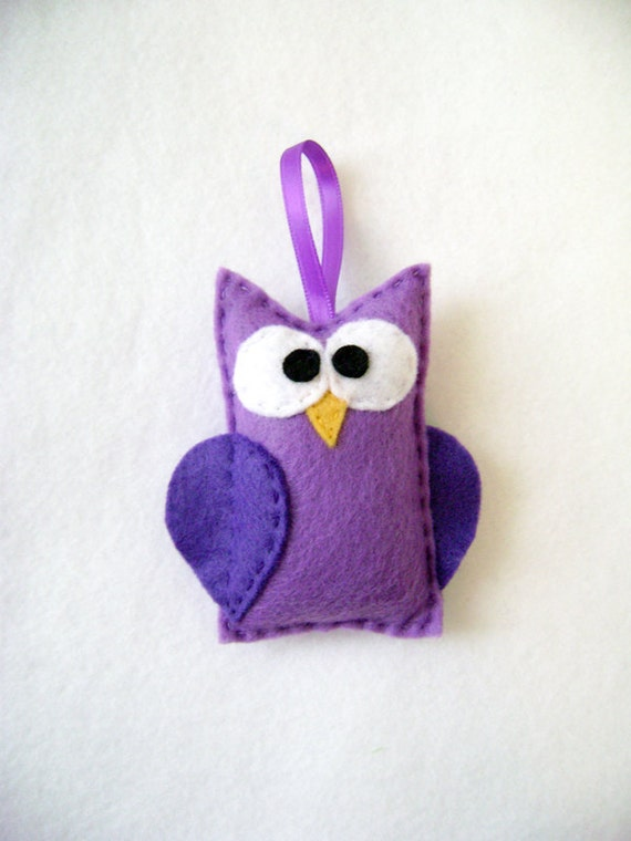 Felt Christmas Ornament - Myrtle the Purple Owl
