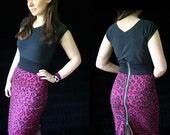 rockabilly pencil skirt zipper back leopard print - Peggy - custom handmade to order smarmyclothes retro pin up