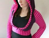 custom Cheshire Cat Alice in Wonderland hoodie shrug - smarmyclothes kawaii diy