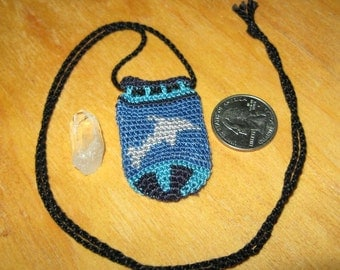 Tapestry Crochet Dolphin Pouch