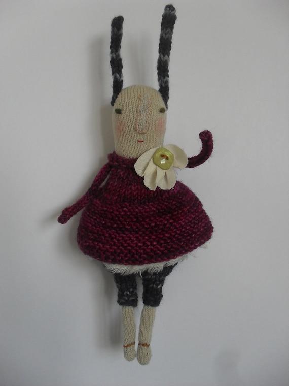 Gwen - Folk art Rabbit Doll - one of a kind