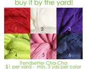 """Yarn by the yard Trendsetter Cha-Cha - Party on Your Head Hat Photo Prop in """"Welcoming Home Baby the Handcrafted Way"""" 6.25 yds"""