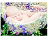 """Mini Blanket  Hammock Wrap Newborn Girl or Boy Photography Prop in """"woodland"""" - girl, boy and neutral colorways available"""