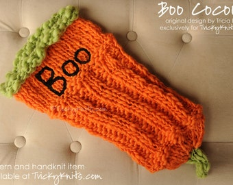 Knitting Kit for Halloween Newborn Cocoon for Baby Boy or Baby Girl - All the yarns you need to knit this yourself