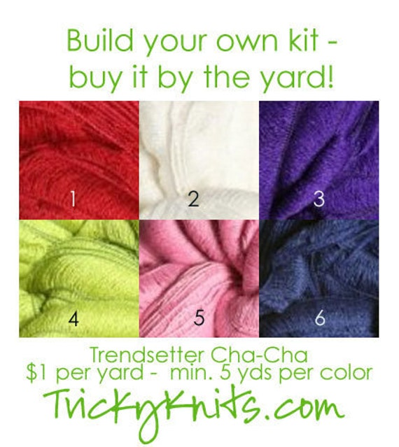 """Yarn by the yard Trendsetter Cha-Cha - Party on Your Head Hat Photo Prop in """"Welcoming Home Baby the Handcrafted Way"""" 5 yds"""