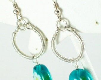 Sterling Silver Coiled Wire Earringd