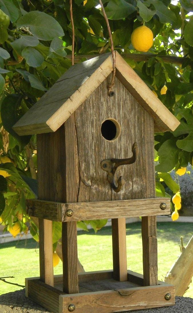 Rustic Birdhouse Feeder 264