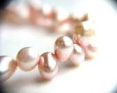 Pink Pearl Bracelet . Freshwater Pearl Bracelet . June Birthday Gift . Light Pink Bracelet . June Birthstone Jewelry - Geranium Collection