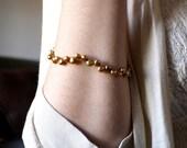June Birthday Jewelry . Golden Pearl Bracelet . June Birthfday Gift . Freshwater Pearl Beaded Bracelet  - California Collection
