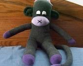 Gray and Purple Sock Monkey