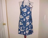 Full Apron Reversible Indianapolis Colts NFL Apron Special Order Item