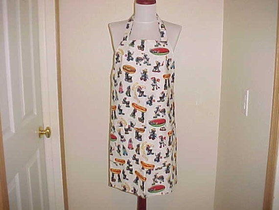 Full Apron Party Ants Great Summer Apron Reversible with Front Pocket