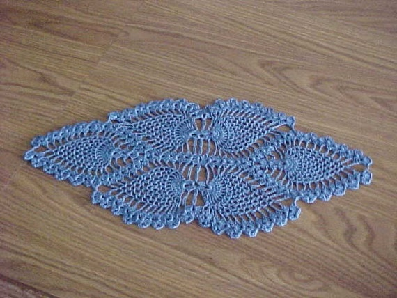 Crocheted Doilies White or Colored Oblong Pineapple Doily