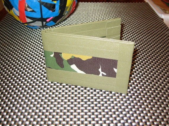 Duct tape wallet born again HARD with gaffer tape and camoflage