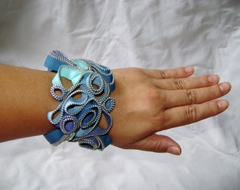 Philippine Sea Zipper Cuff Bracelet