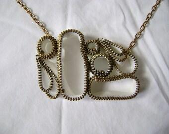 Bookshelves and Cubbyholes Zipper Necklace