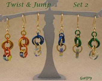 Earrings Colorful Fun Twist and Jump Set 2