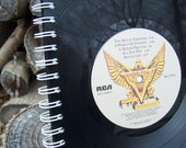 Triumph  -  upcycled vinyl record notebook