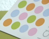 Personalized Stationary - set of 8 folded notes card stationery  : springtime gumballs